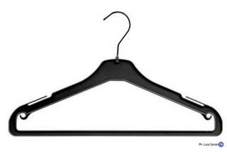 PLASTIC COAT-HANGERS Mod. AU-B/W, Box 200 Pieces